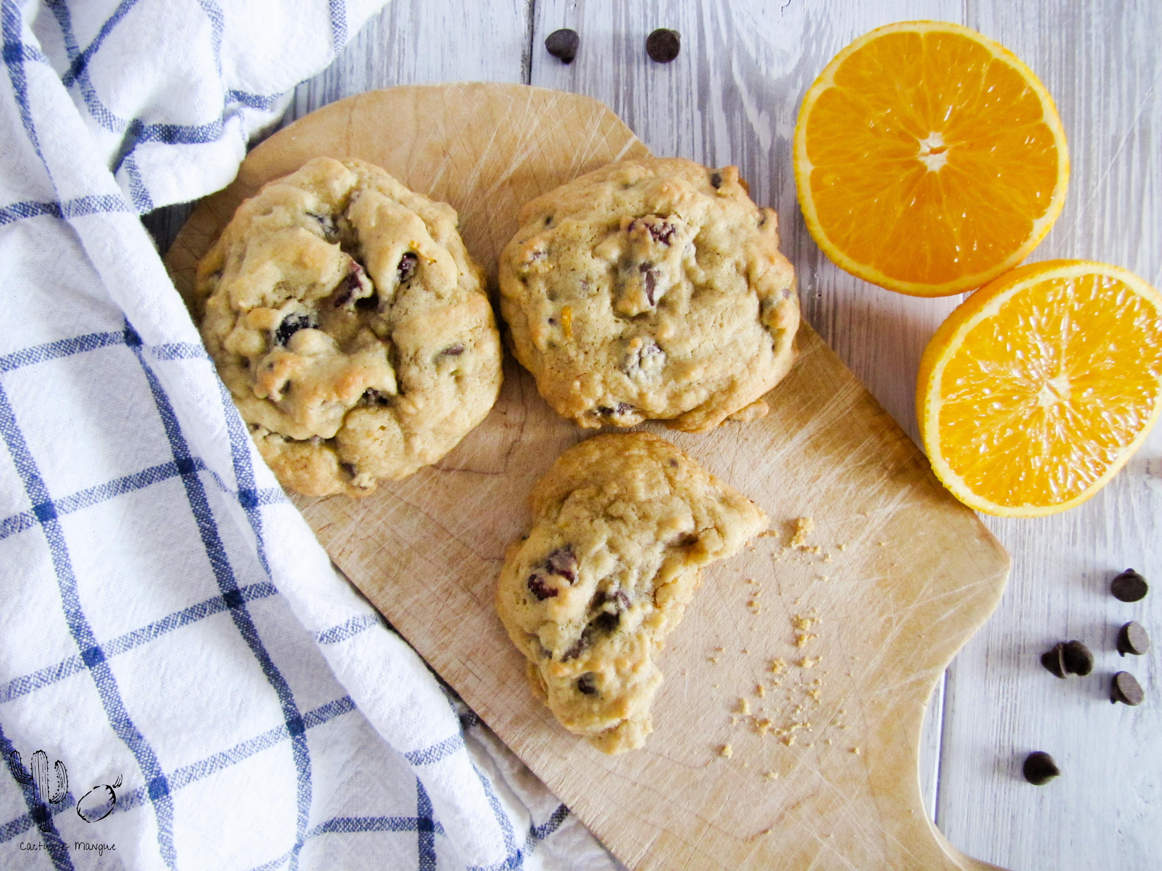 Biscuits à l'orange, chocolat et canneberges